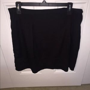 banana republic black three layer Mini Skirt sz 12